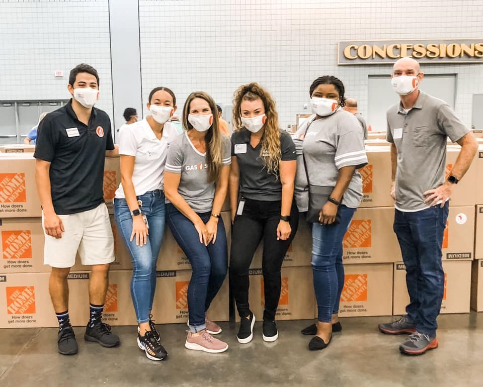 employees serving in the community