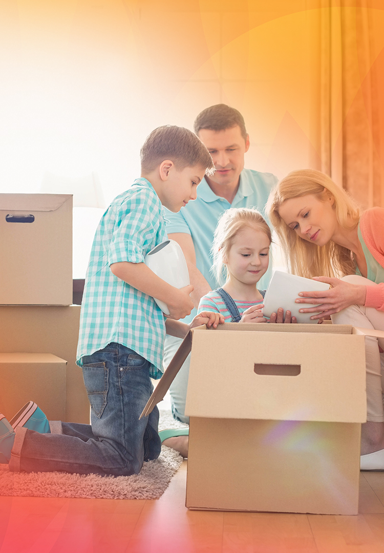 Family moves into new home