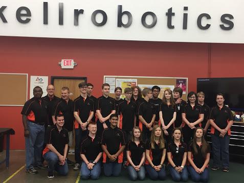 group photo of the robotics team