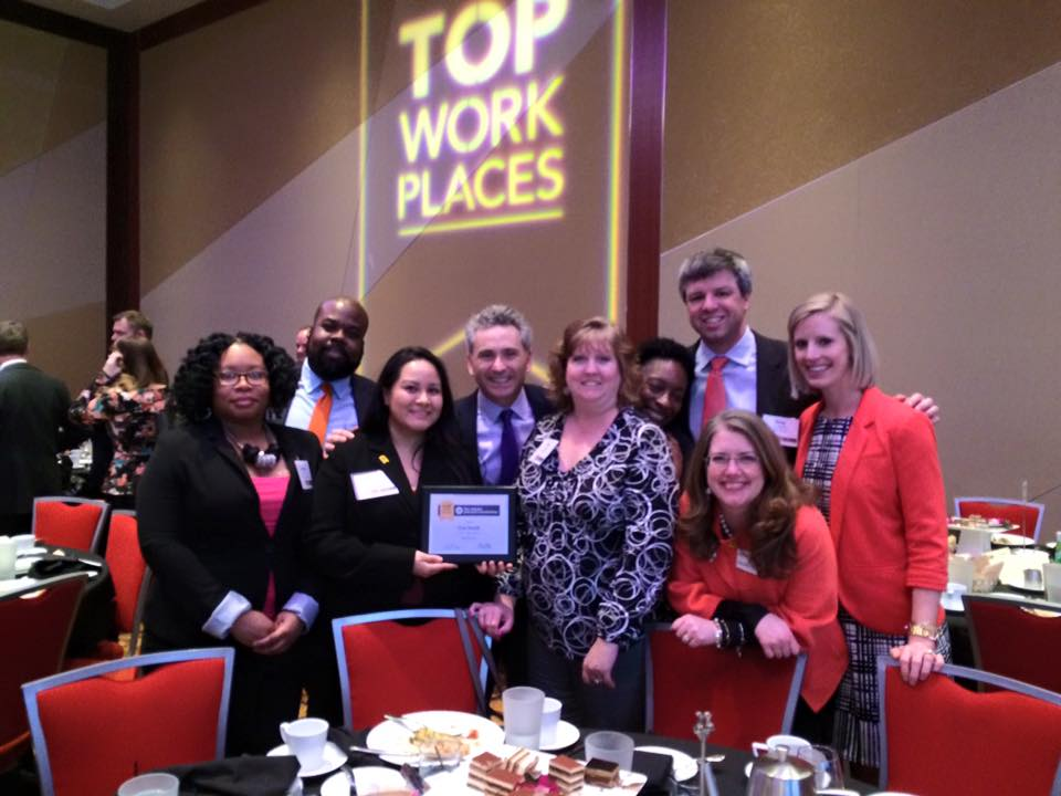 Gas South employees and the top work place award