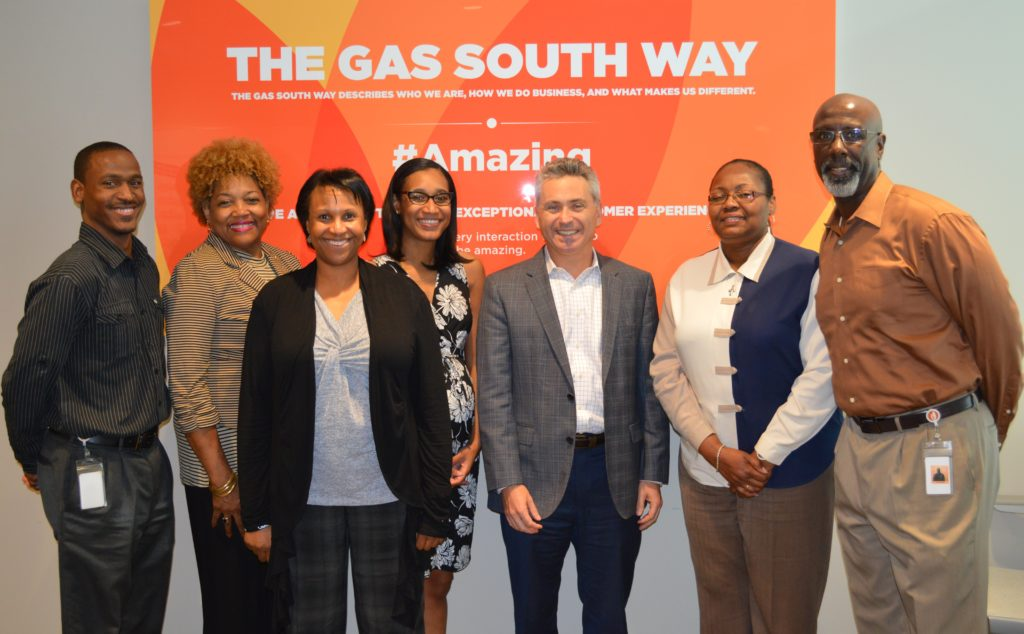 Gas South Employees and CEO Kevin Greiner