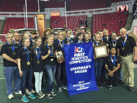 group photo of the peachtree district state championship